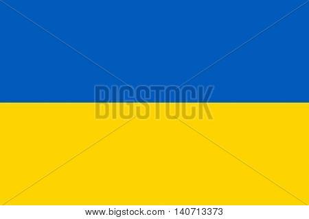 Illustration of the national flag the Ukraine