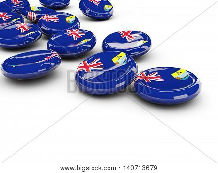 Flag Of Saint Helena, Round Buttons