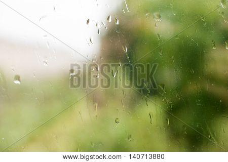 rain on glass drip, moisture, shape, abstract