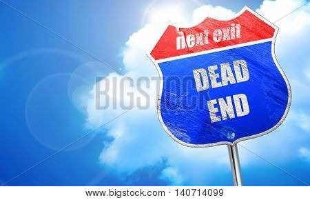 No exit sign, 3D rendering, blue street sign