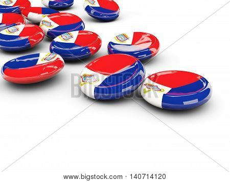 Flag Of Sint Maarten, Round Buttons