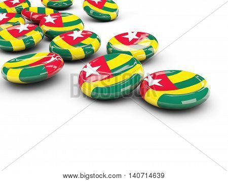 Flag Of Togo, Round Buttons