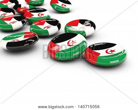 Flag Of Western Sahara, Round Buttons
