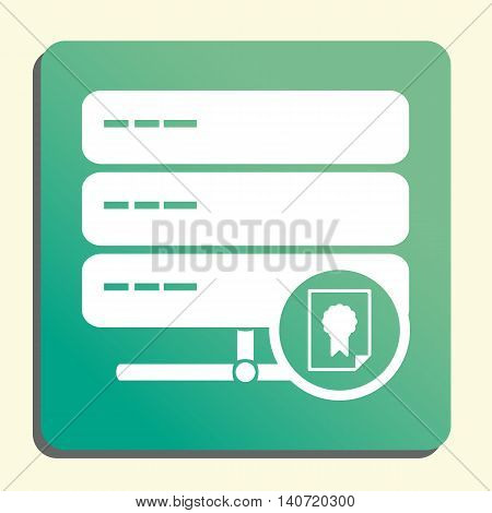 Server Certificate Icon In Vector Format. Premium Quality Server Certificate Symbol. Web Graphic Ser