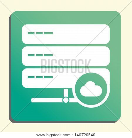 Server Cloud Icon In Vector Format. Premium Quality Server Cloud Symbol. Web Graphic Server Cloud Si