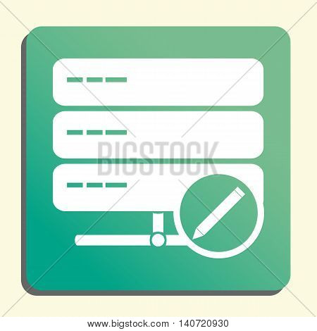 Server Edit Icon In Vector Format. Premium Quality Server Edit Symbol. Web Graphic Server Edit Sign
