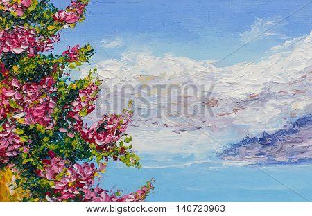 Painting Texture Oil Painting Landscape, Impressionism Art