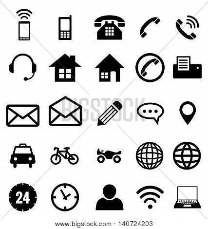 Set of contact icon collection vector for business