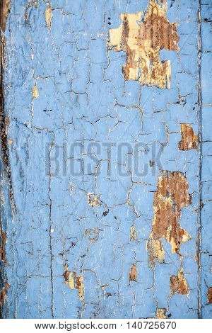 old flaking blue paint, nice background and copy space place