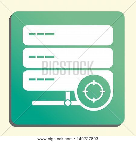 Server Goal Icon In Vector Format. Premium Quality Server Goal Symbol. Web Graphic Server Goal Sign