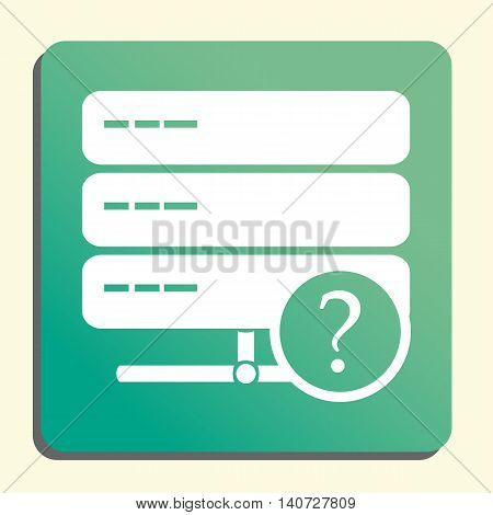 Server Help Icon In Vector Format. Premium Quality Server Help Symbol. Web Graphic Server Help Sign