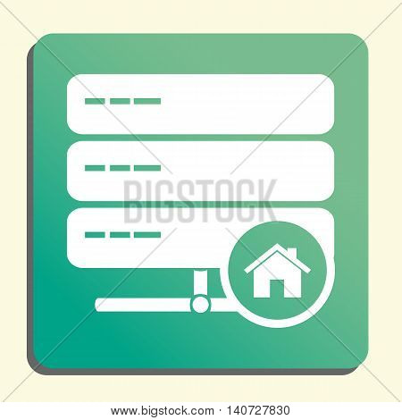 Server Home Icon In Vector Format. Premium Quality Server Home Symbol. Web Graphic Server Home Sign