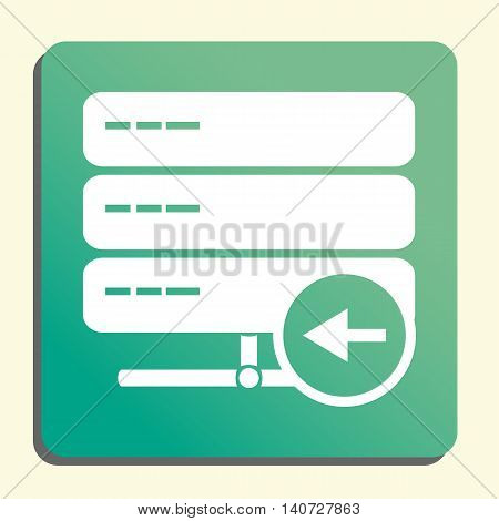 Server Left Icon In Vector Format. Premium Quality Server Left Symbol. Web Graphic Server Left Sign