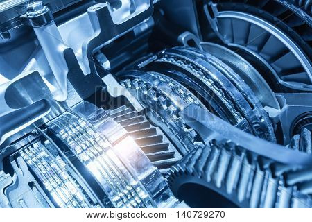 Automotive transmission gearbox isolated