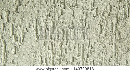 Decorative plaster texture on the wall