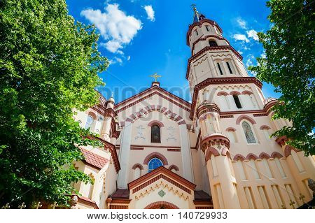 one of the oldest examples of Gothic architecture in Lithuania - St. Nicholas Church in Vilnius