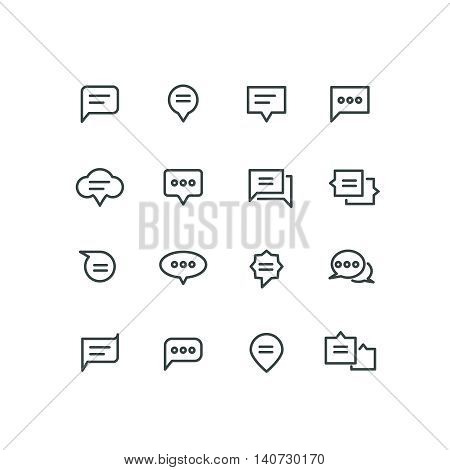 Bubble linear chat, speech icon, communication, dialog illustration