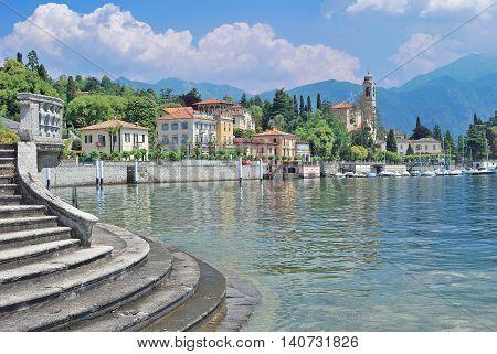 idyllic Village of Tremezzo at Lake Como in Lombardy,italian Lake District,Italy