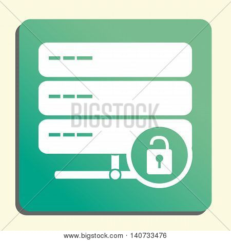 Server Lock Open Icon In Vector Format. Premium Quality Server Lock Open Symbol. Web Graphic Server