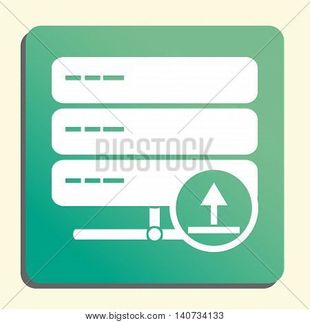 Server Upload Icon In Vector Format. Premium Quality Server Upload Symbol. Web Graphic Server Upload