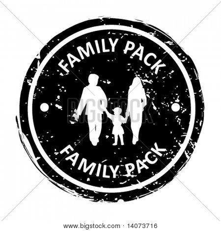 Familienpackung Stempel