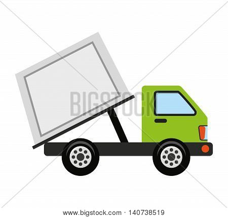 truck vehicle recycle garbage icon vector illustration design