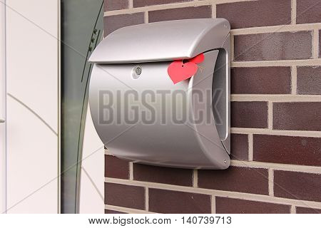Mailbox at the entrance on the wall