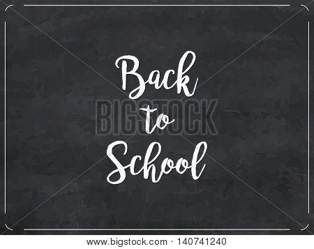 Chalkboard Texture Background, Vector Illustration Back To School