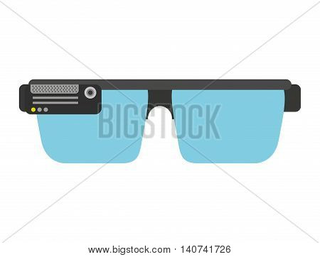 smartglasses wearable technology icon vector illustration design