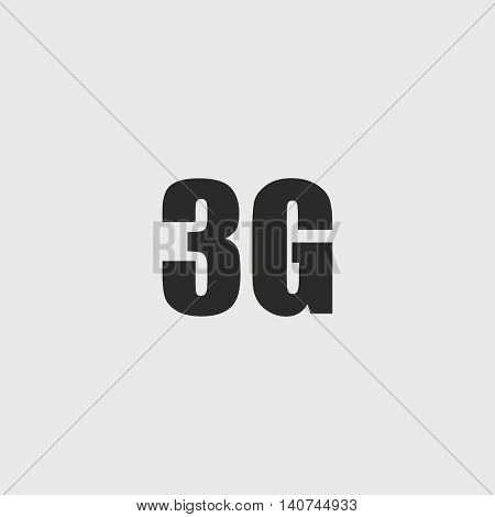 3G icon in a flat design in black color. Vector illustration eps10