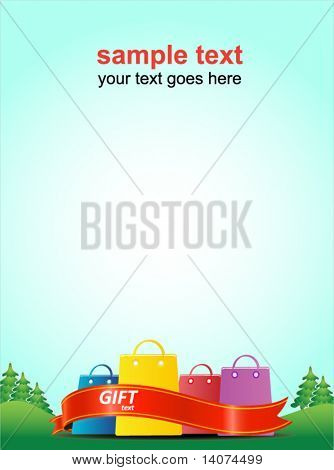 summer forest - shopping poster