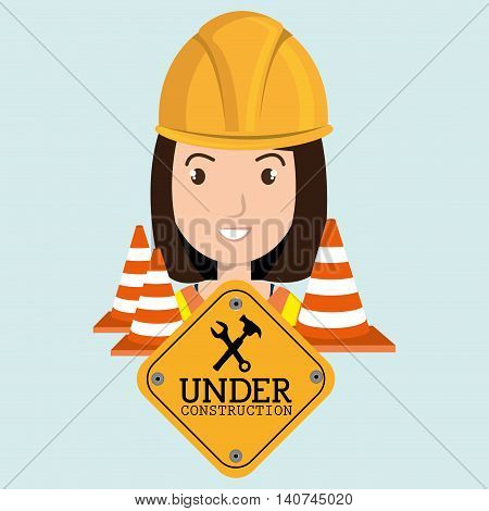 web site construction tool vector illustration graphic
