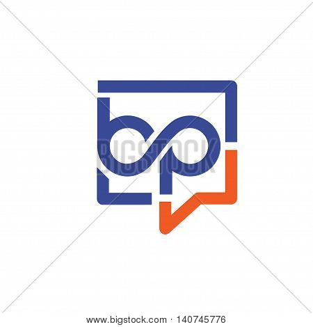 bp letter with square bubble logo , Letter A&C logo vector