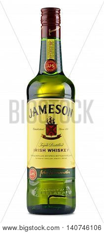 POZNAN POLAND - JULY 28 2016: Jameson is the best selling Irish whiskey in the world with annual sales of 4.7 million cases in 2014