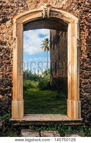 iconic views of Brazil: Historic city of Alcantara near Sao Luis Maranhao State Brazil
