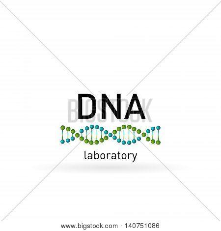DNA laboratory logo vector design. Bio technology, bio logo, biology design, bio concept logo, DNA logo