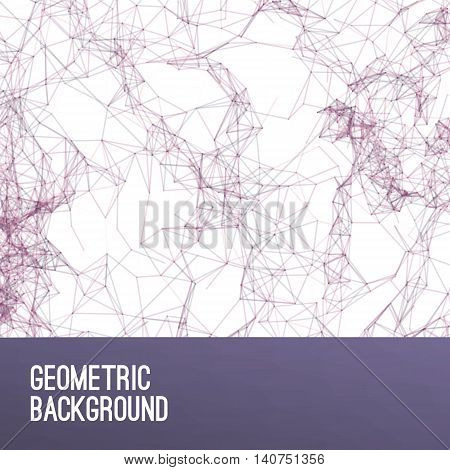 Abstract colorful purple  triangulated geometric background, vector illustration