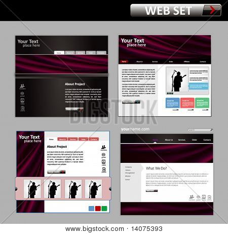 Business-Website-Design-Template - Vektor-illustration