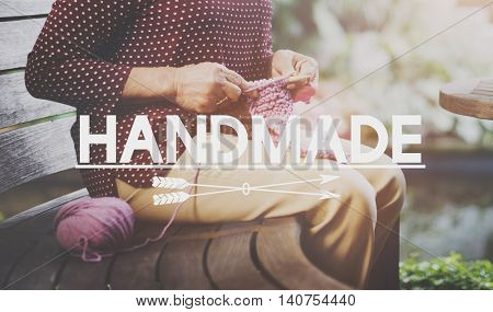 Handmade Handicraft Arts Hobby Creative Worksmanship Knitting Concept