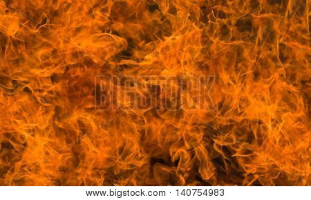 Abstract natural background - flame close-up .