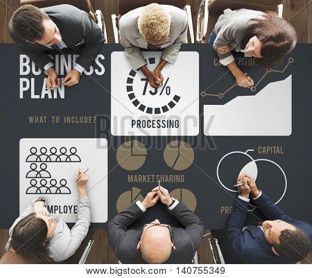 Bussiness Strategy Ideas Plan Progress Concept