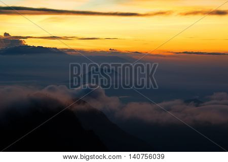 Viewpoint in morning, Mountain and morning light