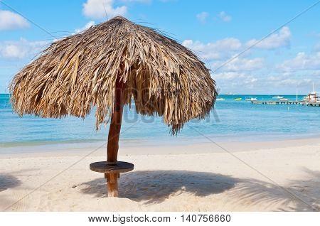 Beach on the island of Aruba - Caribbean island