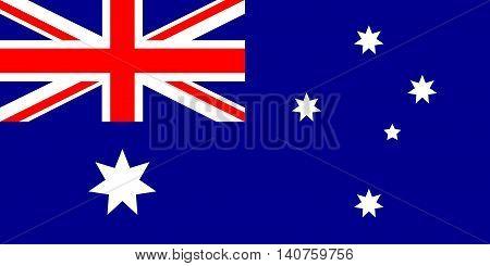 Flag of Australia, Australia flag, vector illustration