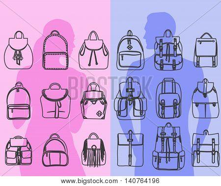 fashionable men and bags urban backpack briefcase, shoulder bag, travel backpack