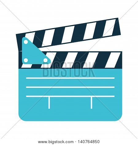 clapper clapperboard film icon vector illustration design