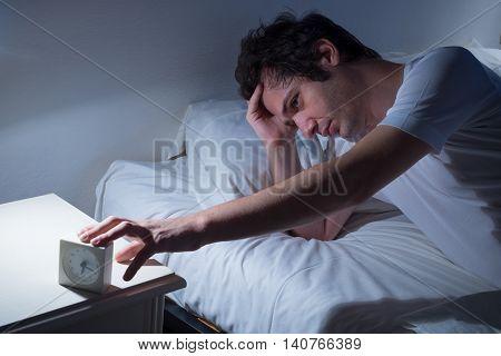 Man Lying Bed