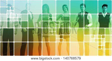 Career Opportunities and Employment Business Success Art 3D Render