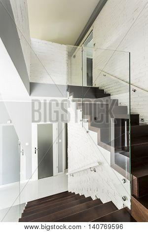 White Villa Staircase Idea