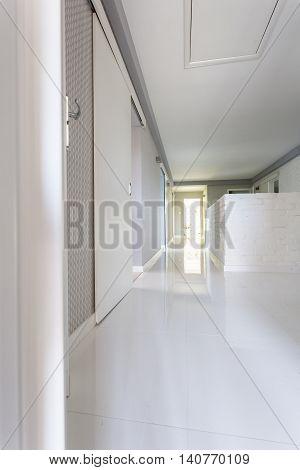 White Villa Corridor Idea